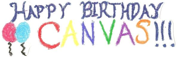 Canvas birthday banner